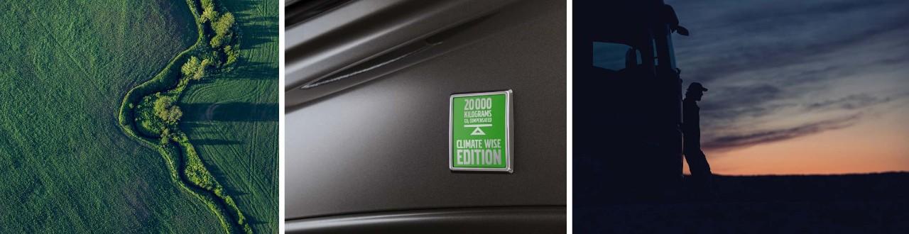 Climate Wise Edition kravas automašīnas rada mazāk CO2 izmešu.